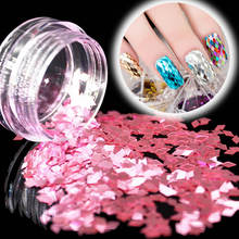 1Pcs DIY Nail Art Pink Diamond Sequins Nail Rhinestone Irregular Beads Manicure 3D Nail Art Decoration In Nails Accessories(China)