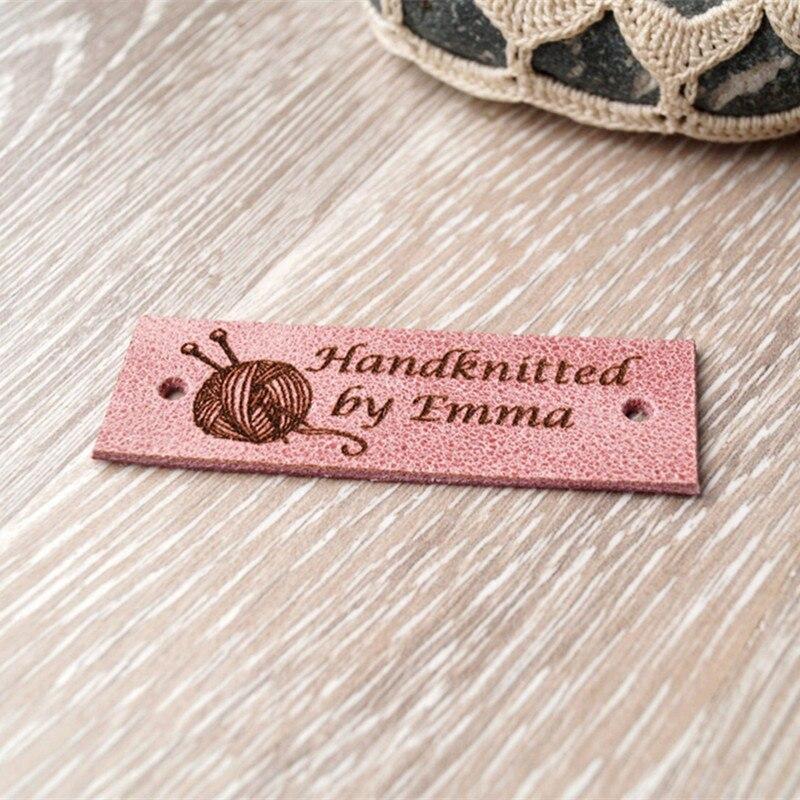 Купить 55 шт персонализированные кожаные именные бирки товары ручной