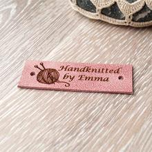 55 шт персонализированные кожаные Именные Бирки товары ручной