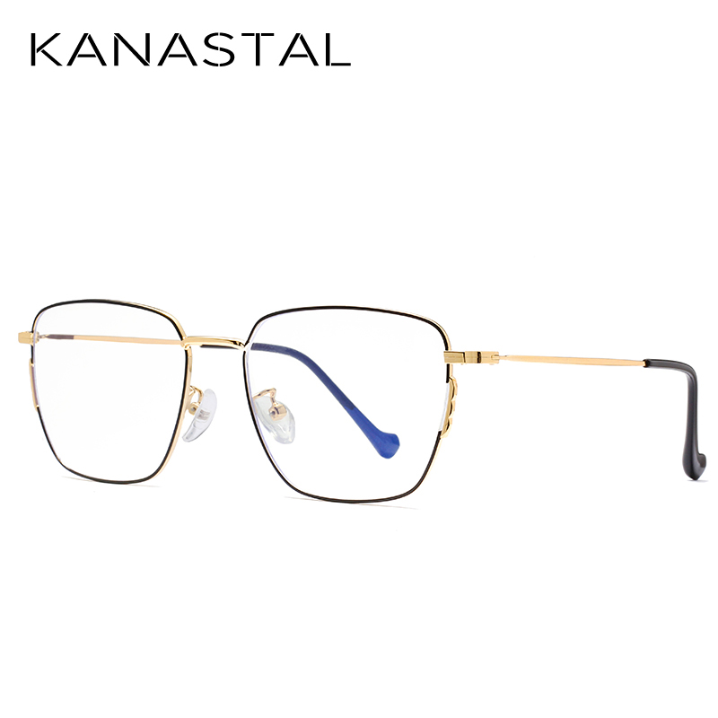 Image 3 - KANASTAL Anti Blue Rays Computer Glasses For Women Glasses Men Anti Rays Radiation Eyewear Frames Metal Unisex Blue rays glasses-in Women's Blue Light Blocking Glasses from Apparel Accessories