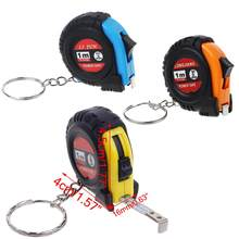 Retractable Ruler Tape Measure Key Chain Mini Pocket Size Metric 1m(China)