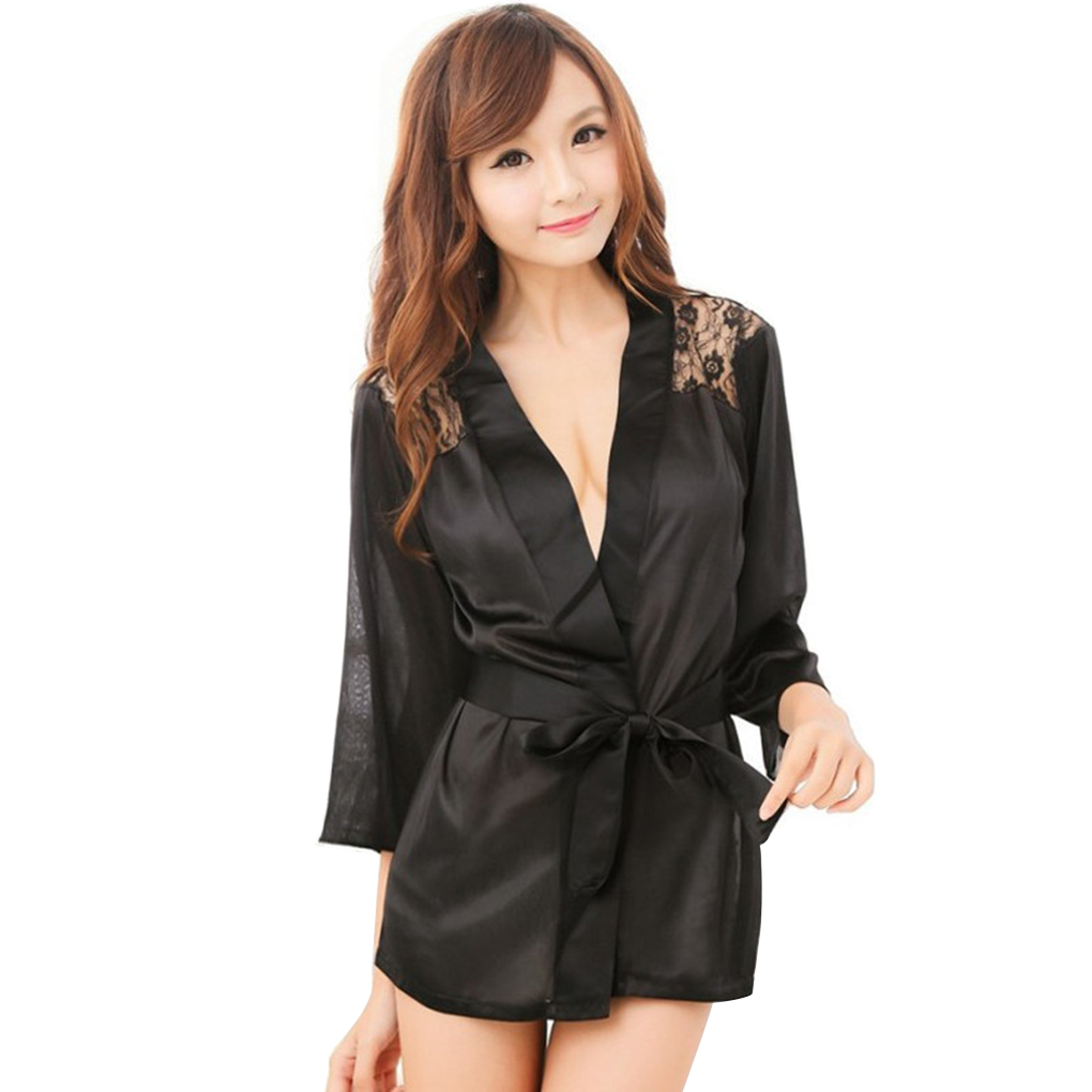Hot Sexy Lingerie Robe Dress Nightgown Women Porno Lingerie Sexy Hot Erotic Underwear Plus Size Nightwear Sexy Costumes Apparel