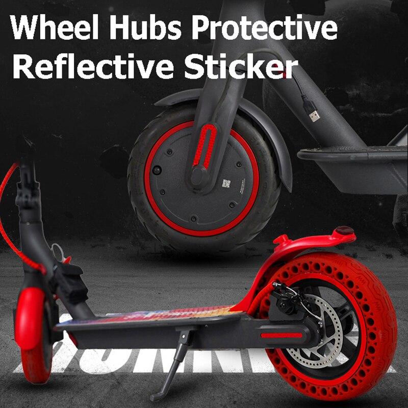 Autocollant de roue pour trottinette électrique Xiaomi Mijia M365 et Pro,accessoire réfléchissant, pièce de protection,