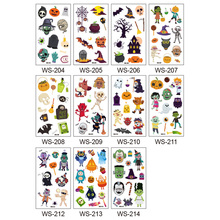 10pcs Body Art Waterproof Removable Wear Resistant Disposable Halloween Clear Cartoon Cute Decoration Tattoo Sticker Children
