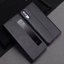 Genuine Leather Case For Huawei P20 Pro Case Cover Magnetic Coque For Huawei P20 P20Pro Flip Case Fundas Window View Protection