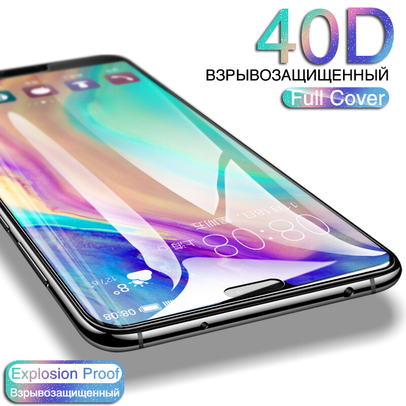 40D Protective Glass For Huawei P20 P30 Lite P30 P20 PRO Tempered Glass For Huawei Honor 9 Lite 10 Lite Screen Protector Film