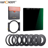 K & F Concept ND1000-filtro cuadrado multicapa, filtro de densidad neutra de 100x100mm con soporte para filtro, 8 Uds., adaptadores de anillo de filtro