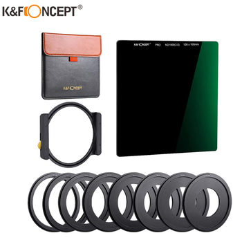 цена на K&F Concept ND1000 Square Filter Multi-Coated 100x100mm Neutral Density Filter with One Filter Holder 8pcs Filter Ring adapters