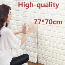 1 pçs 70*77 3d tijolo adesivos de parede auto adesivo diy pe espuma papel de parede sala tv fundo decoração painéis crianças proteti