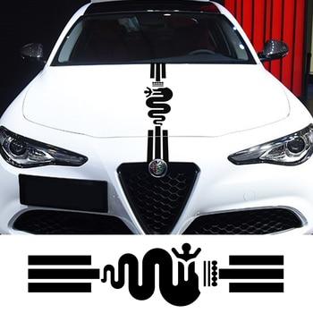 Hood Cover Car Stickers Vinyl Auto For Alfa Romeo 159 Giulietta Giulia 147 156 Mito Stelvio GT Sportiva Car Tuning Accessories 1