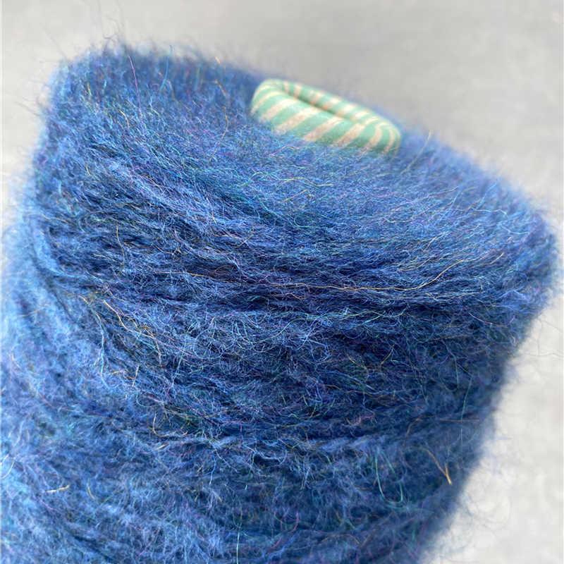 새로운 500g 가져 오기 부드러운 두꺼운 플러시 알파카 모헤어 양모 원사 편직 유기 크로 셰 뜨개질 뜨개질 바느질 스레드 x5145