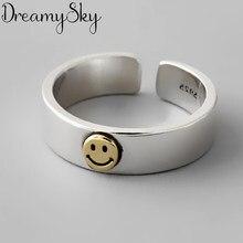 New Arrival srebrny kolor uśmiech pierścienie dla kobiet panie regulowane pierścienie biżuteria w stylu Vintage