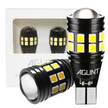 AGLINT ampoules de voitures, 2 pièces, LED, éclairage arrière, éclairage de stationnement, T15, T16 W16W, support CANBUS, sans erreur, 921, 912, LED, blanc 12 24V
