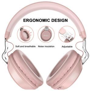 Image 2 - EKSA Orijinal kablosuz kulaklıklar CVC 6.0 Gürültü Iptal Kulaklık 30 H Çalma Süresi Kablolu Bluetooth mikrofonlu kulaklık Pembe