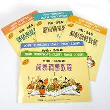 5 Книг простой пианино курс музыкальная книга Детские учебники