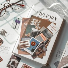 Journamm 45pcs Ins Style Travel Aesthetics Cute Sticker Creative Hand Account LOMO Cards Stationery Notepad Sticky Stickers