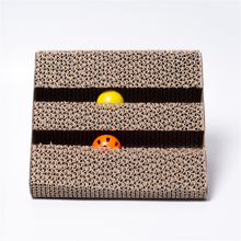 Pet Cat Creative Toys Scratch Board Scratching Posts Claw Corrugated Pad With Bells For Grind Funny Toy
