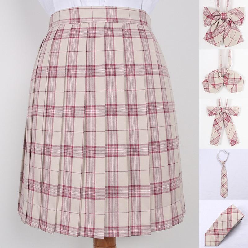 Women Pleat Skirt Summer High Waist Plaid Pleated Skirt Cosplay Anime Sailor Suit Short Skirts Female Mini Jk School Uniforms