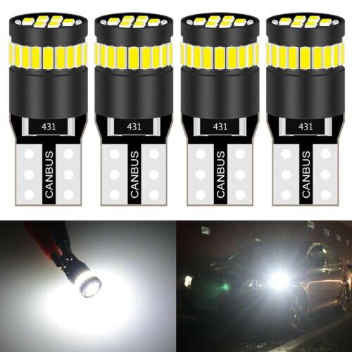 4Pcs T10 194 LED Light Bulbs 3014 24SMD Error Free W5W 168 LED Bulbs Lens 12V 6000K