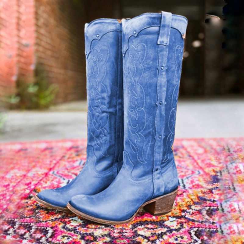 ผู้หญิงฤดูใบไม้ร่วงฤดูหนาวสุภาพสตรีแบนรองเท้าด้านล่างรองเท้าเข่าต้นขายาวหนังนิ่มสีดำรองเท้า zapatos de mujer