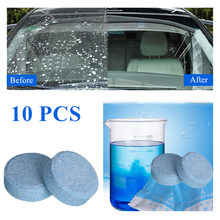 10Pcs/Pack(1Pcs=4L Water)Car Solid Wiper Fine Wiper Auto Window Cleaning Car Windshield Glass Cleaner Car Cleaning Car Tools