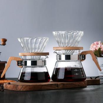 Zestaw dzbanek do kawy V60 styl prosty styl z kawy ważenia kawy garnek ze stali nierdzewnej papier do kawy 40 akcesoria do kawy tanie i dobre opinie abay CN (pochodzenie) shop022020831006 Szkło 400ml 600ml funnel High borosilicate glass 300ML 600ML 600g