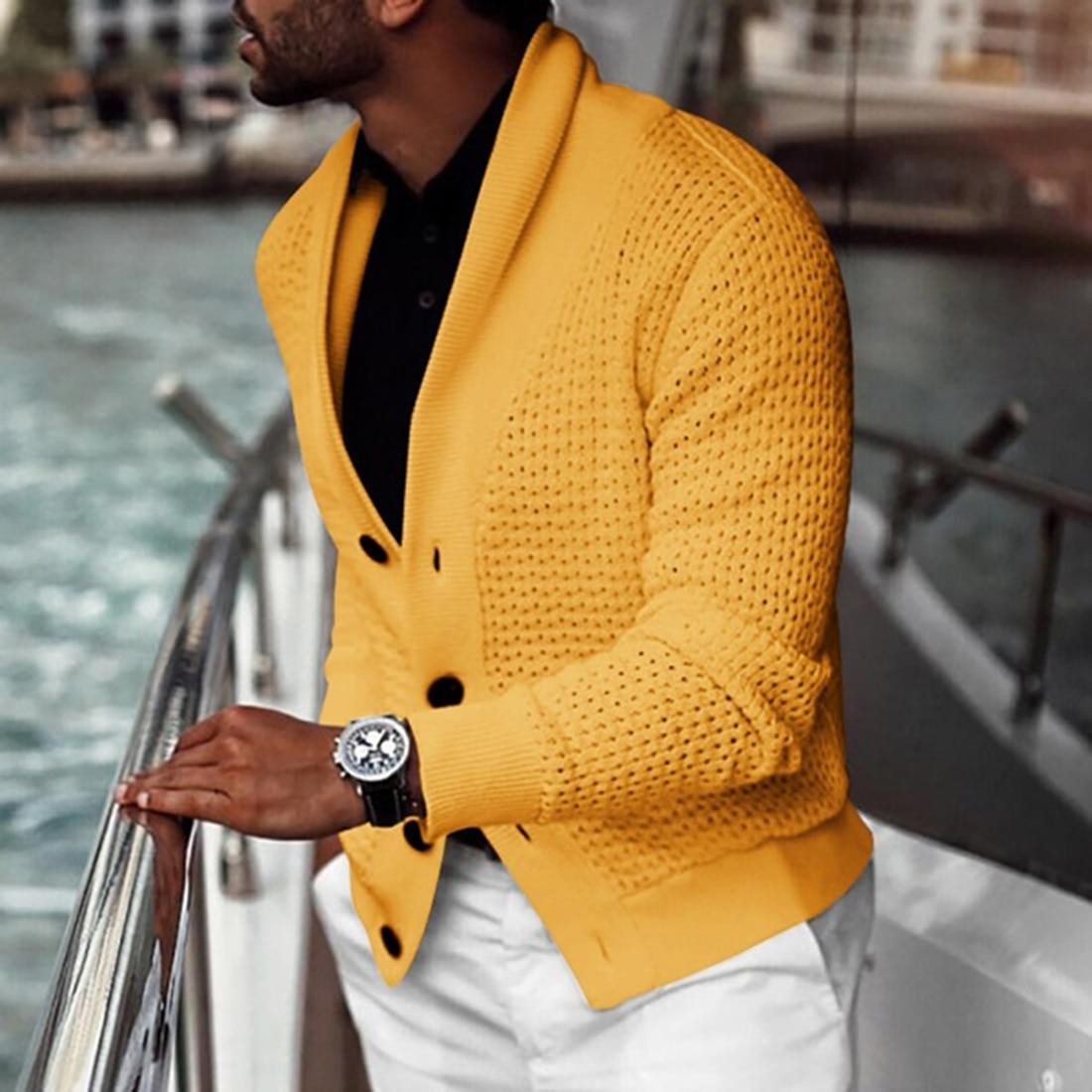 2020 Autumn Men Cardigan Sweater Coat Warm Knitting Sweaters Casual Slim Fit Turtleneck Jumpers Men Winter Business Sweater