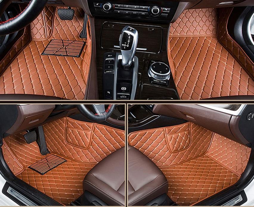 leather car floor mats for Audi A5 2008 2009 2014 2015 2016 2017 2018 Custom auto foot Pads automobile carpet covers left drive