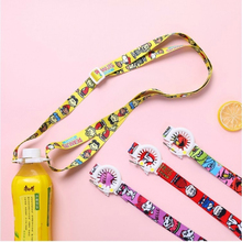 Hot Sail New Japanese Cartoon Beverage Bottle Adjustable Strap Sesame Street Mineral Water Carrying Kettle La