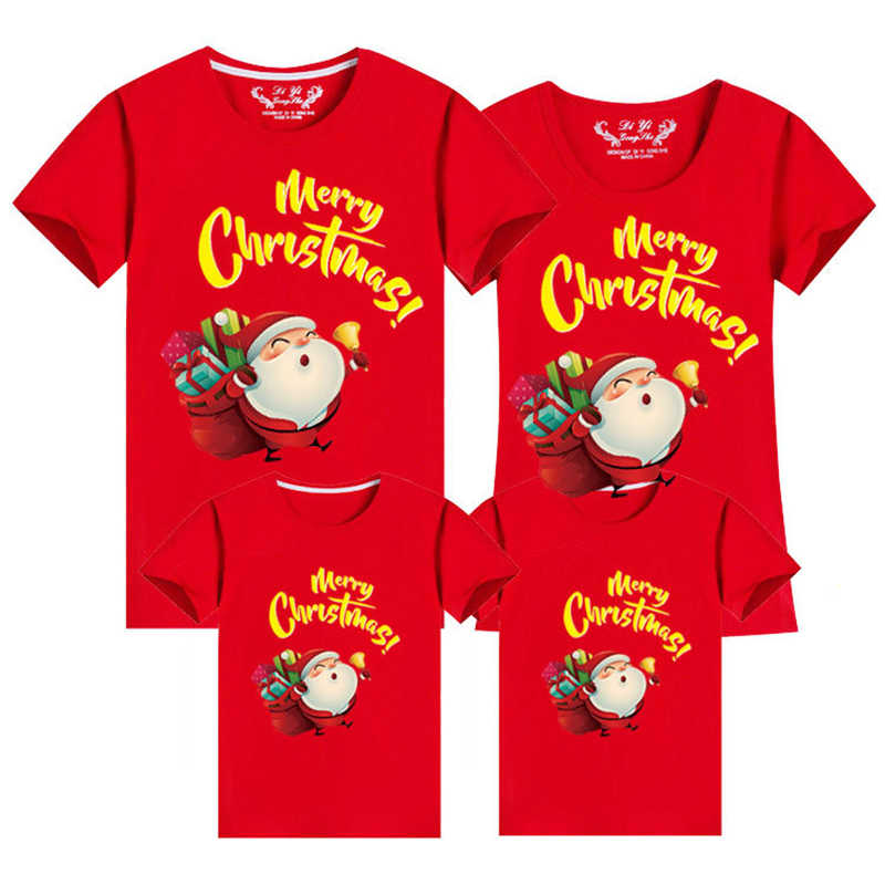 New Year family look Christmas T-Shirt Clothing Family Matching Outfits Clothes Mother Daughter Father Son Mommy and Me Shirt