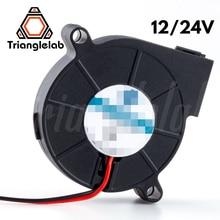 Trianglelab 5015 wentylator dmuchawa wysokiej jakości łożysko kulkowe wentylator DC 12V/24V bezszczotkowe chłodzenie rozpraszanie ciepła do drukarki 3D