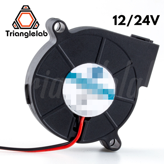 Trianglelab 5015 wentylator dmuchawy wysokiej jakości łożyska kulkowe wentylator chłodzący DC 12 V/24 V bezszczotkowy chłodzenie rozpraszanie ciepła dla 3D drukarki