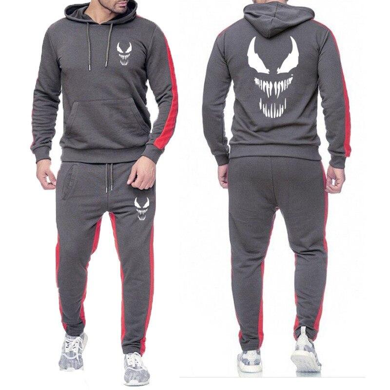 2019 New Men's Sportswear Sportswear Suit Men's Hoodies + Pants Running Clothes Men's Sports Suit Sportswear Hoodies