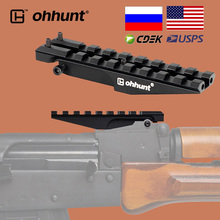 ohhunt Tactical AK Rear Sight Rail Mount 100mm 150mm Picatinny 21mm Scope Base For Hunting Red Dot Optics 47 74 Adapter