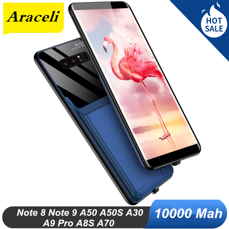 Araceli 10000 Mah For Samsung Galaxy Note 8 Note 9 A50 A50S A30S A8S A9 Pro A70 Battery Case Battery Charger Case Power Bank