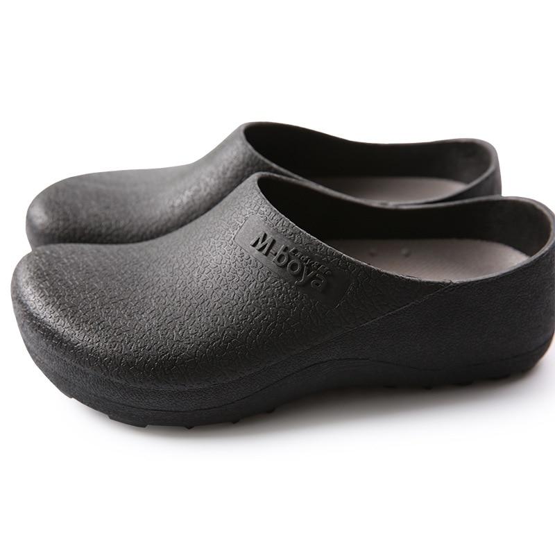 Нескользящие туфли для шеф-повара, повседневные рабочие кроссовки на плоской подошве, дышащие, устойчивые к нарезке, для кухни, большие разм...