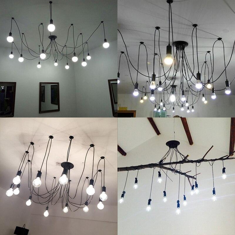 Image 5 - DIY Pendant lights Modern Retro Hanging Lamps Edison Bulb Fixtures Spider Ceiling Lamp Fixture Light for Living Room Home Decorlight choirlight up your lifelighting a pilot light -