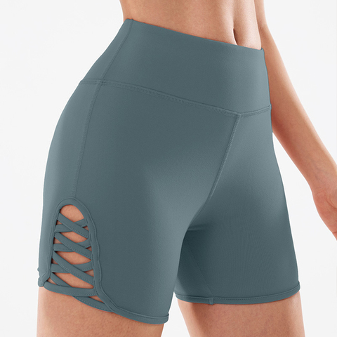 COPOZZ Spandex Sexy Fitness Jogger Shorts Womens High Waist Yoga Sport Workout Shorts Tummy Control Seamless Gym Athletic Shorts Multan