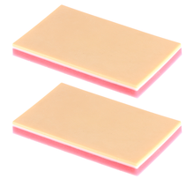 2pcs Silicone Suture Training Model Student Silicone Human Skin Suturing Practice Pad