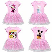 Vestido de Minnie para niñas bebé niño pequeño, vestido de encaje de dibujos animados para Fiesta infantil, ropa de Ballet de cumpleaños, vestidos bonitos de princesa