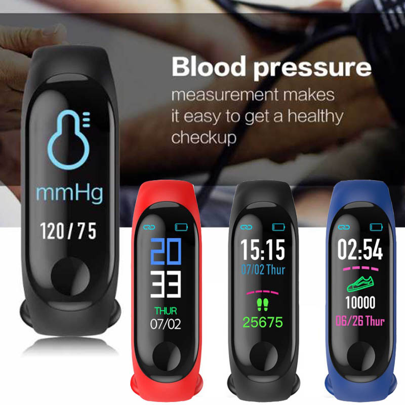 Smart Blood Pressure Watch Band Sport Bracelet Wristband Blood Pressure Meter Heart Rate Monitor Pedometer Smart Watch Men Women
