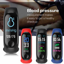 Smart blood pressure watch band Sport Bracelet Wristband Blood Pressure meter Heart Rate Monitor Pedometer Smart Watch men Women(China)