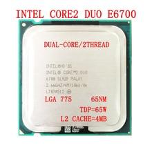 Processor TDP Intel-Core E6700 LGA Ghz 755 CPU 65W 4M 2 1066-Mhz 2-Duo Front-Side Cache