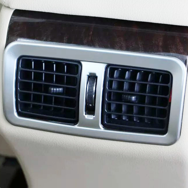Auto inerior accessories rear air vent intake trim sticker for Toyota Camry 2015 ABS chrome 1pcs