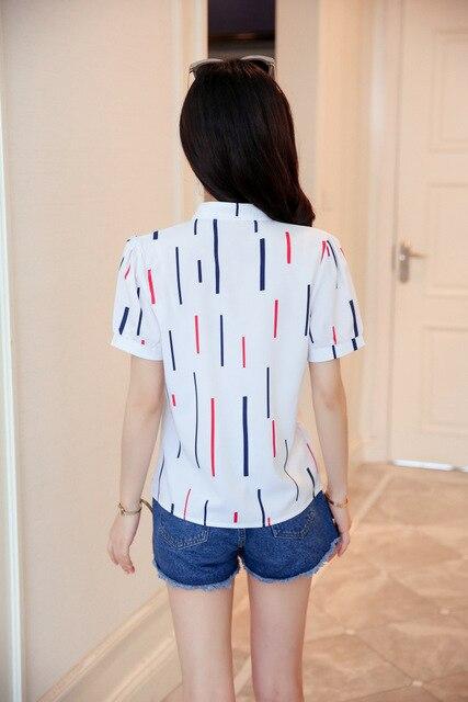 Korean Fashion Chiffon Women Shirts Office Lady Women Blouses Plus Size Womens Tops and Blouses Ladies Tops Femininas Elegante 6