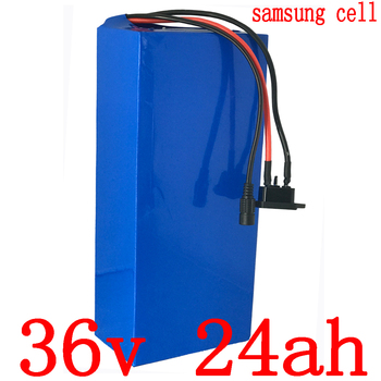 1000W 36V electric bike battery 36V 25AH Lithium scooter battery36V 24AH ebike battery use samsung cell with 30A BMS 42V charger image