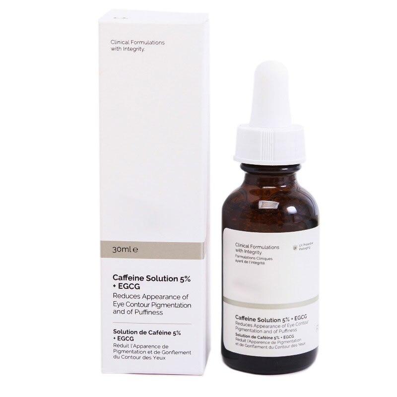 30ml The Ordinary Skincare Caffeine Solution 5% + EGCG Eye Serum Anti-aging Anti-oxidation Lighten Dark Circles Reduce Puffiness