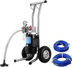 Pulverizador de pintura sin aire VEVOR, 2600W, 3,5 HP, pulverizador sin aire de 3,8 l/min, pulverizador de pintura sin aire, Kit de 3190PSI