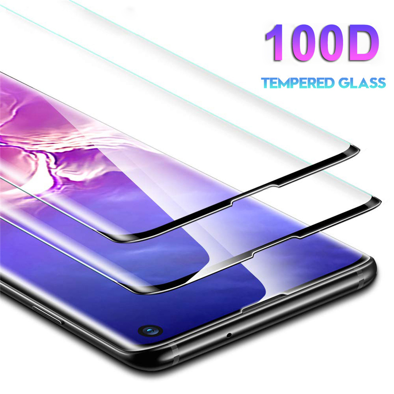 100D Full Cover Screen Protector For Samsung Galaxy S10 5G S8 S9 Plus S7 Edge Note 10 S20 Ultra Tempered Glass Protective Film