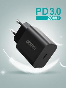 "Image 5 - CHOETECH USB סוג C פ""ד מטען 18W עבור iPad iPhone 11 פרו מהיר תשלום 4.0 QC 3.0 מהיר קיר מטען עבור huawei סמסונג xiaomi"